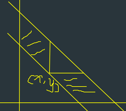 减去阴影部分就是三角了w